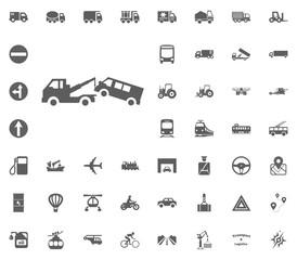 Wrecker icon. Transport and Logistics set icons. Transportation set icons