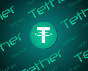 Tether style blockchain background collection