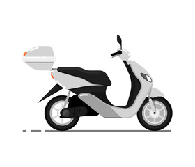 Modern scooter isolated on white icon
