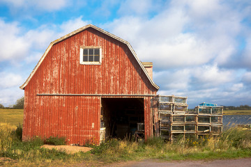 Old lobster barn on Prince Edward Island