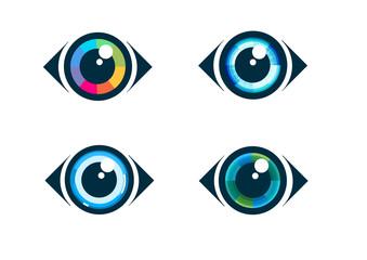 Eye icon - eye symbol. Flat eye icons