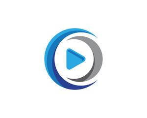 Play vector Logo template design