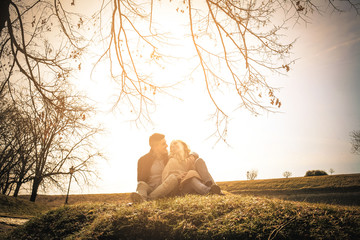 Young couple in nature.