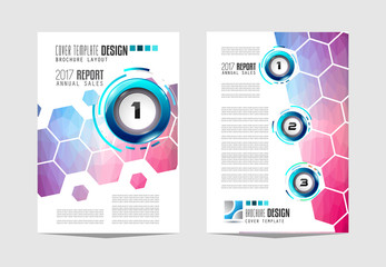Brochure template, Flyer Design or Depliant Cover for business purposes. Elegant layout with space for text and images.