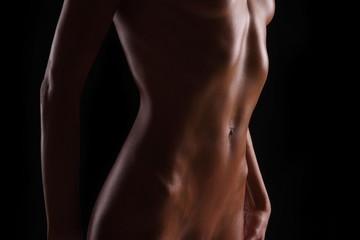beautiful slender sports female body