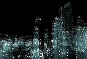 Hologram futuristic interface city