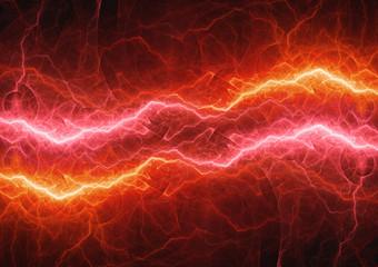 Burning hot plasma lightning, abstract power background