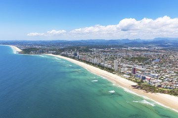 Sunny view of Miami and Burleigh Heads on the Gold Coast