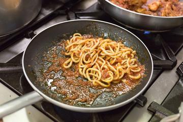 handmade Pasta Pici Aglione Tuscany