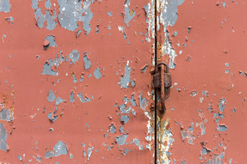 Old painted metal texture with traces of cracks.
