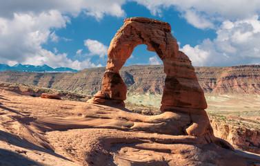 Poster de jardin Parc Naturel Delicate Arch - Amazing rock formation at Arches National Park, Utah, USA.
