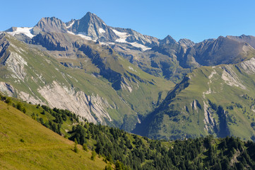 The Großglockner in the center of the national park Hohe Tauern