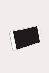 White isolated smart phone