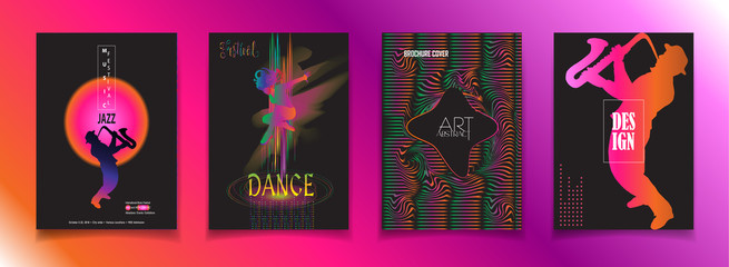 Summer Festival music, jazz, pop, disco, dance, club, Holiday colorful modern poster, flyer, brochure cover layout vector. Abstract composition with geometric dynamic shapes modern design template.