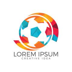 Soccer ball vector logo design.
