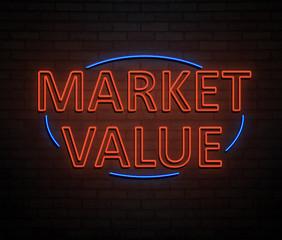 Market value concept.
