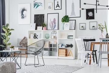 Decorations in cozy apartment interior