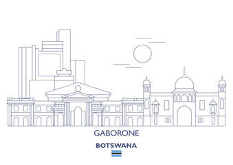 Gaborone Linear City Skyline, Botswana