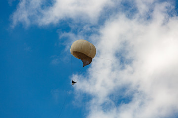 Military balloon in a blue sky
