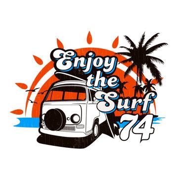 Enjoy the Surf 74 vector graphic print design