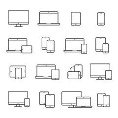 Device line icon set