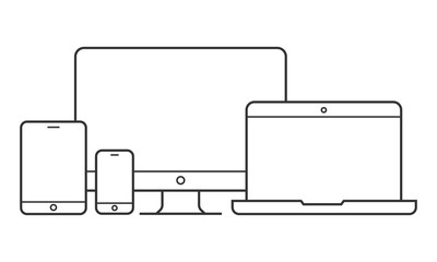 Device and gadget line art set
