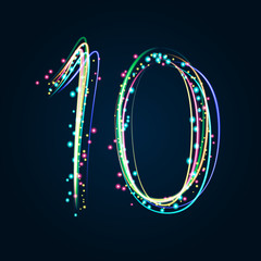 Neon Light Painting – Number 10