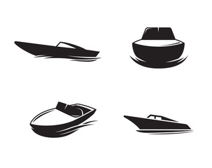 Boat icons set