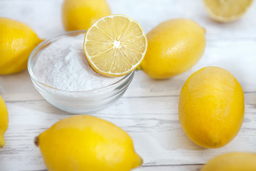 Natural cleaners lemons and baking soda