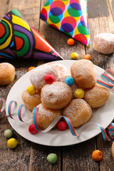 carnival donut with decoration