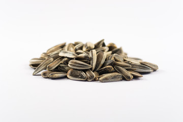 Sunflower seeds (white background)