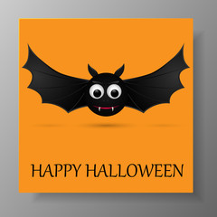 Halloween gift card with flying bats.