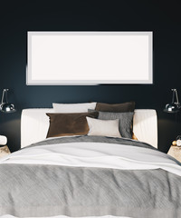 Interior of a modern luxury bedroom with 