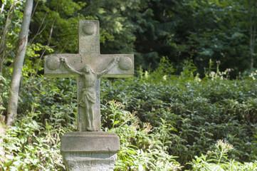 Old cross gravestone in Poland