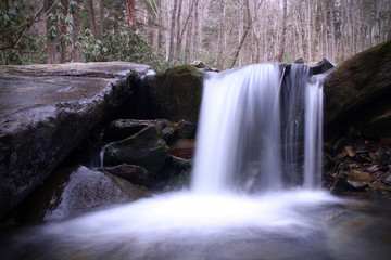 Blurred Water Fall Professional Nature Photography Landscape in the Great Smoky Mountains