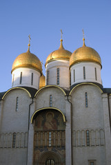 Dormition church of Moscow Kremlin. Color photo