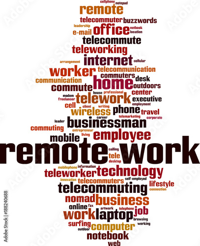 remote work word cloud stock image and royalty free vector files on