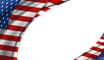 USA or America flag design on white background