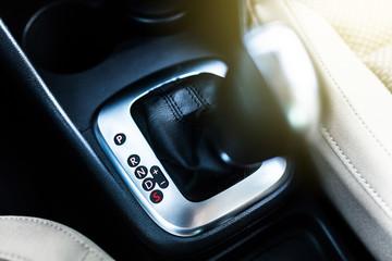 Fotoväggar - Automatic transmission stick in a car