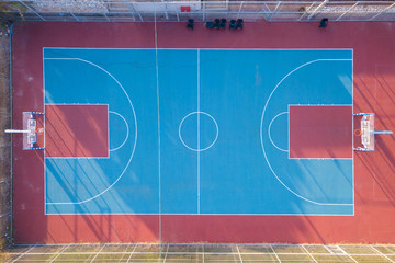 Public Basketball court - Tops down aerial image