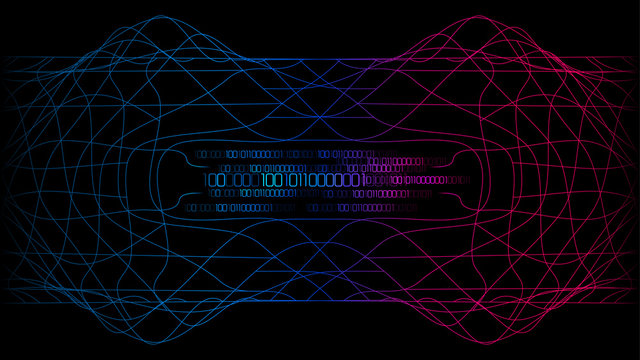 red blue complex major cyber computer technology abstract background