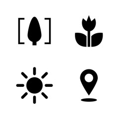 Macro. Simple Related Vector Icons Set for Video, Mobile Apps, Web Sites, Print Projects and Your Design. Black Flat Illustration on White Background.