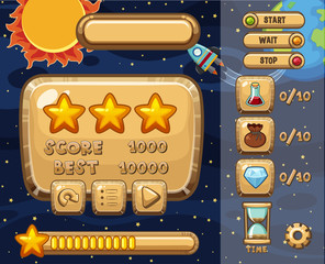 Game design with solar system theme