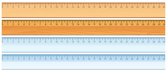 Four designs of rulers