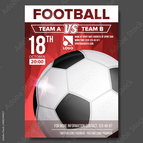 soccer poster vector sport event announcement banner advertising
