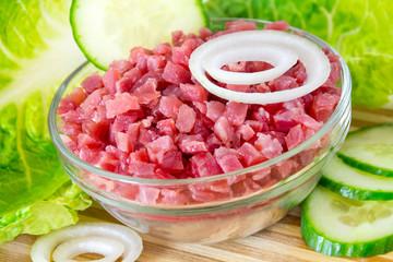 Schinken und Salat