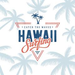 Surfing Hawaii Triangle White