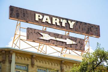 Schild 295 - Party