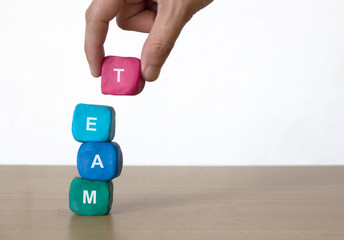 Business Team Building and Human Resource Management Concept