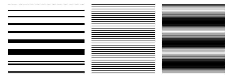 Linien Linienraster Set | Linienmuster | Muster | Variation